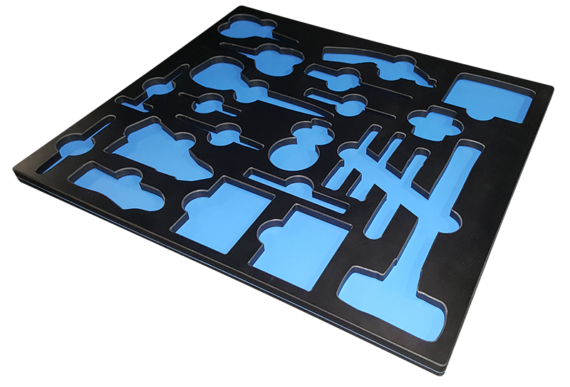 Black Blue Tool Tray