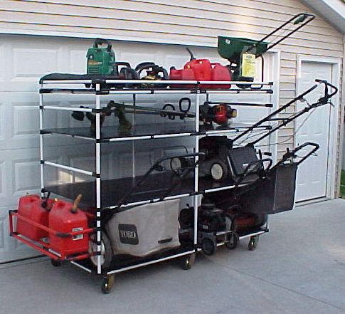 0garage Lawn Equipment Rack