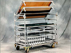 Hinged Shelf Cart