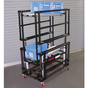 Two Level Mobile Flow Rack